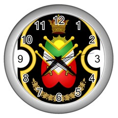 Shield Of The Imperial Iranian Ground Force Wall Clocks (silver)  by abbeyz71