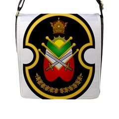 Shield Of The Imperial Iranian Ground Force Flap Messenger Bag (l)  by abbeyz71