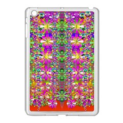 Flower Wall With Wonderful Colors And Bloom Apple Ipad Mini Case (white) by pepitasart