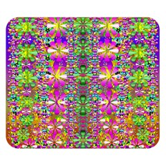 Flower Wall With Wonderful Colors And Bloom Double Sided Flano Blanket (small)  by pepitasart