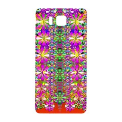 Flower Wall With Wonderful Colors And Bloom Samsung Galaxy Alpha Hardshell Back Case by pepitasart