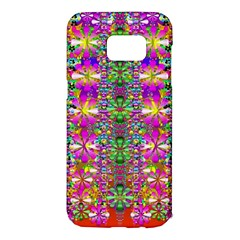 Flower Wall With Wonderful Colors And Bloom Samsung Galaxy S7 Edge Hardshell Case by pepitasart