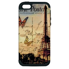 Vintage Paris Carte Postale Apple Iphone 5 Hardshell Case (pc+silicone) by augustinet