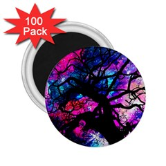 Star Field Tree 2 25  Magnets (100 Pack)  by augustinet