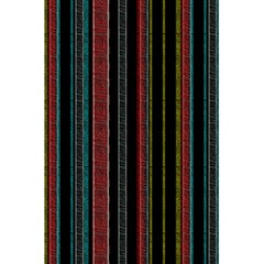 Multicolored Dark Stripes Pattern 5 5  X 8 5  Notebooks by dflcprints