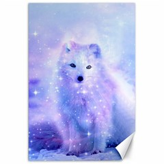Arctic Iceland Fox Canvas 20  X 30   by augustinet