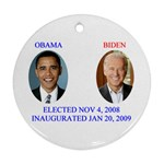 obama biden 2008 Ornament (Round)