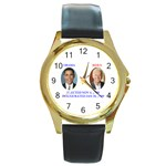 obama biden 2008 Round Gold Metal Watch