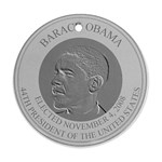 president obama Round Ornament (Two Sides)