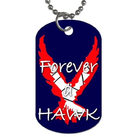 Forever A Hawk Dog Tag (one Side) By Justin   Dog Tag (one Side)   8leqsyx5yes5   Www Artscow Com Front