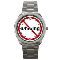 No Whining Sport Metal Watch from ArtsNow.com Front