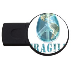 Fragile Peace on Earth USB Flash Drive Round (1 GB) by curiousdreams