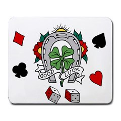 good_luck_tee Large Mousepad by lostairship