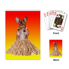 Dancing Dachshund Playing Cards Single Design from ArtsNow.com Back
