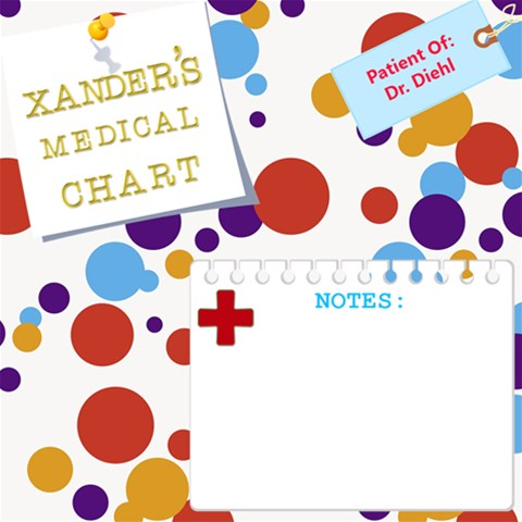 Medical Doctor Visit Page For Baby Scrapbook By Starr   Scrapbook Page 12  X 12    Qg8uh5y625lu   Www Artscow Com 12 x12 Scrapbook Page - 1