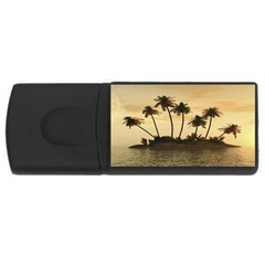 Tropical Island USB Flash Drive Rectangular (2 GB) by classicwatches
