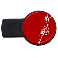 Red Print USB Flash Drive Round (4 GB) by classicwatches