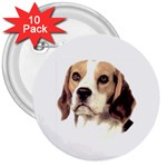 Beagle ^ 3  Button (10 pack)