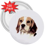 Beagle ^ 3  Button (100 pack)
