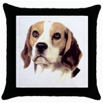 Beagle ^ Throw Pillow Case (Black)