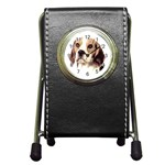 Beagle ^ Pen Holder Desk Clock