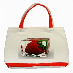 Strawberry Ice cube Classic Tote Bag (Red) by egiftstore