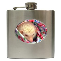 Albino HH Hip Flask (6 oz) from ArtsNow.com Front
