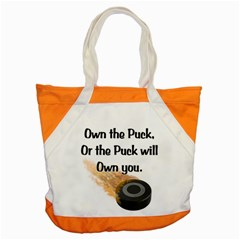 Own The Puck Accent Tote Bag from ArtsNow.com Front