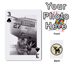 Dads Wwii Deck By Matt   Playing Cards 54 Designs   Lcvgz32n4og0   Www Artscow Com Front - Spade3