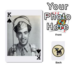 King Dads Wwii Deck By Matt   Playing Cards 54 Designs   Lcvgz32n4og0   Www Artscow Com Front - SpadeK