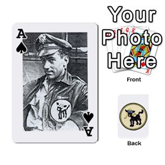 Ace Dads Wwii Deck By Matt   Playing Cards 54 Designs   Lcvgz32n4og0   Www Artscow Com Front - SpadeA
