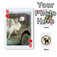 Dads Wwii Deck By Matt   Playing Cards 54 Designs   Lcvgz32n4og0   Www Artscow Com Front - Heart8