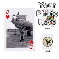 Jack Dads Wwii Deck By Matt   Playing Cards 54 Designs   Lcvgz32n4og0   Www Artscow Com Front - HeartJ