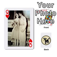 Queen Dads Wwii Deck By Matt   Playing Cards 54 Designs   Lcvgz32n4og0   Www Artscow Com Front - HeartQ