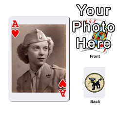 Ace Dads Wwii Deck By Matt   Playing Cards 54 Designs   Lcvgz32n4og0   Www Artscow Com Front - HeartA