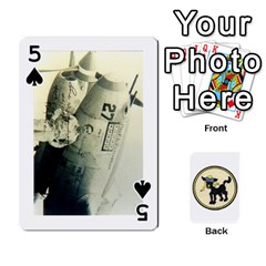 Dads Wwii Deck By Matt   Playing Cards 54 Designs   Lcvgz32n4og0   Www Artscow Com Front - Spade5