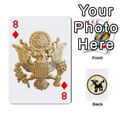 Dads Wwii Deck By Matt   Playing Cards 54 Designs   Lcvgz32n4og0   Www Artscow Com Front - Diamond8