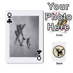 Queen Dads Wwii Deck By Matt   Playing Cards 54 Designs   Lcvgz32n4og0   Www Artscow Com Front - ClubQ
