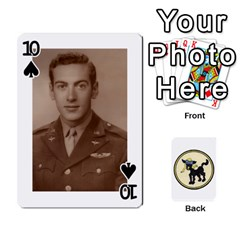 Dads Wwii Deck By Matt   Playing Cards 54 Designs   Lcvgz32n4og0   Www Artscow Com Front - Spade10