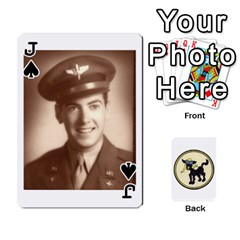 Jack Dads Wwii Deck By Matt   Playing Cards 54 Designs   Lcvgz32n4og0   Www Artscow Com Front - SpadeJ