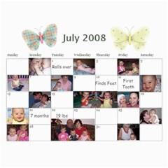 1 Year Calendar By Amanda   Wall Calendar 11  X 8 5  (18 Months)   I5inl9tlqrd8   Www Artscow Com Jul 2008