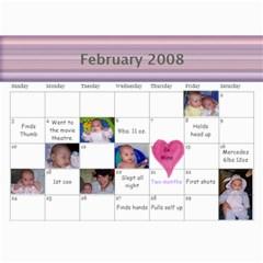 1 Year Calendar By Amanda   Wall Calendar 11  X 8 5  (18 Months)   I5inl9tlqrd8   Www Artscow Com Feb 2008