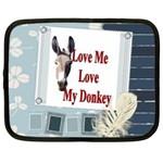 Love my donkey 2 Netbook Case (Large)