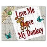Love my donkey Jigsaw Puzzle (Rectangular)