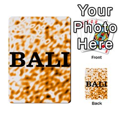 Bali 1 By Timmierz   Playing Cards 54 Designs   867p2b8r14wt   Www Artscow Com Back
