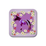 Swirl donk Rubber Square Coaster (4 pack)