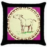 Donkey 2 Throw Pillow Case (Black)