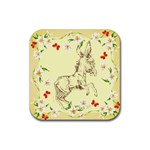 Donkey 5 Rubber Square Coaster (4 pack)