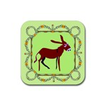 Donkey 6 Rubber Square Coaster (4 pack)