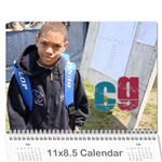 NAT TENNIS CENTER CALENDAR - Wall Calendar 11  x 8.5  (12-Months)